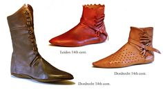 14th Century Shoes | 14th cent boots. Kublai Khan was givern Korean fishskin boats which were lovely and soft.