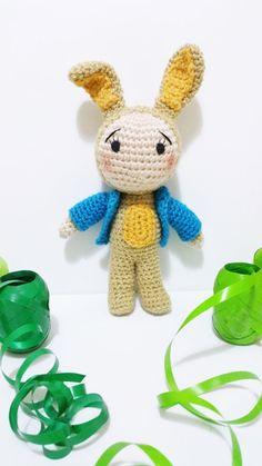 Bunny Girl doll  9''   children rabbit rabbit por Kutuleras en Etsy