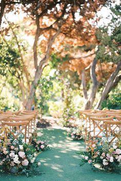 Elegant Botanic Garden Wedding in San Diego Wedding Aisles, Wedding Ceremony Ideas, Ceremony Decorations, Wedding Themes, Fall Wedding, Garden Wedding Ceremonies, Reception Ideas, Wedding Table, Church Wedding Decorations
