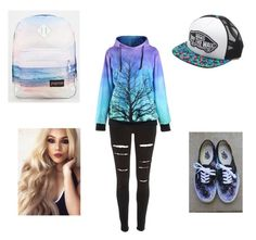 """""""School day"""" by kawaiiasfuu on Polyvore featuring River Island, JanSport, Vans, women's clothing, women's fashion, women, female, woman, misses and juniors"""