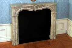 Acrylic then varnish, steel wool, more dabs of acrylic. Veins made with various tools (CD) from A Beautiful World: The making of…the fireplace mantel