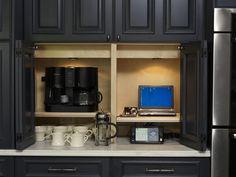 Making Hidden Storage in Your Kitchen: Wooden kitchen storage Kitchen Redo, Kitchen And Bath, New Kitchen, Kitchen Storage, Kitchen Remodel, Kitchen Ideas, Kitchen Black, Cabinet Storage, Cabinet Space