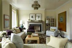 living room with greenish-gray walls, sherwin williams sedate gray