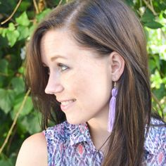 See how to make your own DIY tassel earrings in 10 minutes or less with embroidery floss!