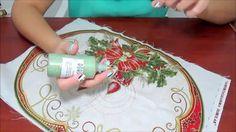 Individuales Navideños con bordado líquido Bargello, Christmas Home, Embroidery, Table Decorations, Crafts, Painting, Videos, Home Decor, Google