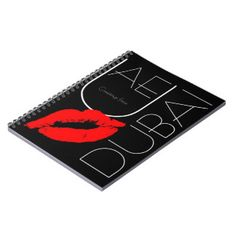 Greetings from Dubai UAE Red Lipstick Kiss Notebook