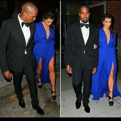 Royal Blue Beauty. Kim Kardashian