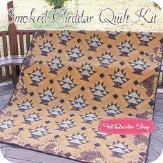 Smoked Cheddar Quilt Kit<br/>Featuring Eliza's Indigo by Betsy Chutchian
