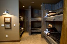 Bunk room for mountain house