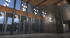 Interior Rendering of Community Centre in Toronto #landarch #interiordesign   #sdg