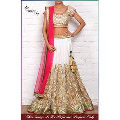 Buy Dertaste White Net Semi Stitched Lehanga by Shreenath Packaging, on Paytm, Price: Rs.3150?utm_medium=pintrest