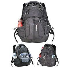 "New Wenger Horizons 17"" Laptop Black Backpack,  SwissGear 17"" Laptop Backpack #Wenger #Backpack"