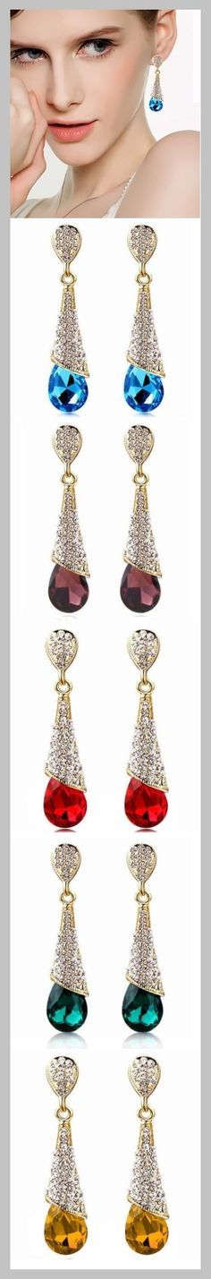 Earrings - stylish crystal drop earrings for weddings or evening wear