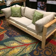 Bench made out of 2x4s.