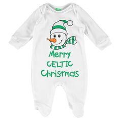adac6fbba Celtic Novelty Christmas Sleepsuit - White #sleepwear #nightwear #onesie  #football #babygrow