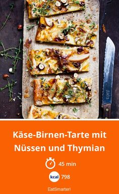 Käse-Birnen-Tarte mit Nüssen und Thymian Cheese and pear tart with nuts and thyme – smarter – calories: 798 kcal – time: 45 min. Chicken Pasta Salad Recipes, Chicken Caesar Pasta Salad, Creamy Pasta Salads, Easy Pasta Salad Recipe, Spinach Salad Recipes, Asparagus Recipe, Healthy Salad Recipes, Easy Summer Salads, Summer Pasta Salad