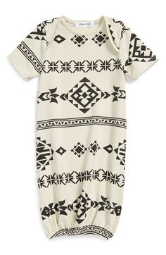 Joah Love Geo Print Gown (Baby Boys) available at #Nordstrom