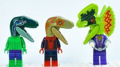 Lego Spiderman and Hulk as Dinosaurs. When i make first video about Lego Dinosaurs after Jurassic World. I decide to make second one with superheroes animati. Lego Hulk, Lego Spiderman, Superhero, Lego Ninja Turtles, Teenage Mutant Ninja Turtles, Lego Dinosaur, Lego Iron Man, Lego For Kids, Fun Activities To Do