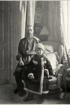 Tsar Nicholas II and son, Tsarevich Alexei Nicholaevich