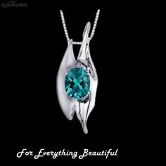 Alexandrite Oval Cut Abstract Detail Sterling Silver Pendant by JB7339 - $179.97