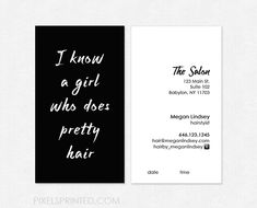 Hair Salon Business Cards Hairstylist Dresser Home Salons
