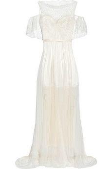 Sophia Kokosalaki Ortygia lace, tulle and silk-satin gown -delicately pretty