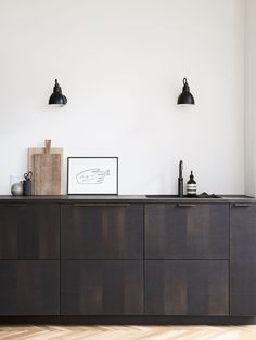 Reform's IKEA kitchen by Norm Architects. A design in sawn smoked oak with handles in tombac. It's an IKEA hack. Reform's IKEA kitchen by Norm Architects. A design in sawn smoked oak with handles in tombac. It's an IKEA hack. Minimalist Kitchen, Minimalist Interior, Minimalist Bedroom, Minimalist Decor, Modern Minimalist, Minimalist Living, Ikea Kitchen, Home Decor Kitchen, Kitchen Ideas