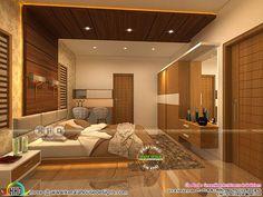 Modern Kerala interior designs November 2018 Wooden Ceiling Design, House Ceiling Design, Ceiling Design Living Room, Bedroom False Ceiling Design, Master Bedroom Interior, House Hall Design, Kitchen Ceiling Design, Bedroom Pop Design, Bedroom Furniture Design