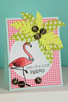 Flamingo Friend Card by Erin Lincoln for Papertrey Ink (February 2013)