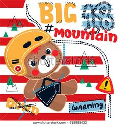 Adorable teddy bear boy cartoon climbing up on the mountain using rope on red and white striped background illustration vector. Striped Background, Boys T Shirts, Cartoon Drawings, High Quality Images, Illustration, Chibi, Print Design, Red And White, Royalty Free Stock Photos
