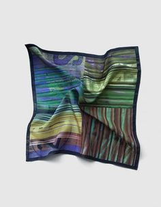 Pañuelo de bolsillo para caballero en tonos verdes y marrones | Viva La Woolf