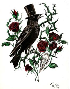crow rose bush tophat