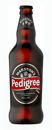 Cerveja Marston's Pedigree, estilo Extra Special Bitter/English Pale Ale, produzida por Marston's Beer Company, Inglaterra. 4.5% ABV de álcool.