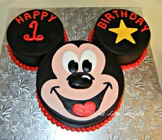 Mickey 1st Birthday Mickey Cake Party For Asher Pinterest