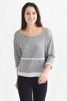 Bobi V-Back Kangaroo Pocket Sweatshirt | South Moon Under