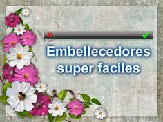 Embellecedores Scrapbook 7 Super Faciles// DIY- adornos-Como hacer - YouTube
