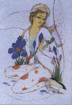 نقاشی ایرانی Middle Eastern Art, Mughal Paintings, Grunge Art, Iranian Art, Portrait Art, Bird Art, Islamic Art, Aesthetic Art, Art Deco Fashion
