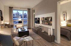 Model Suite Model Good Looks Interior Inspiration, Corner Desk, Condo, The Unit, Windows, Living Room, Interior Design, Room Ideas, Furniture
