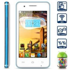 This phone will only work with GSM+WCDMA network Network type: GSMFrequency: GSM 850/900/1800/1900MHz Unlocked for Worldwide use, please check if your local area network is compatible with this phone  Highlights: Type: LED Music Phone  Color: Blue OS: Android 4.1 CPU: MTK6517 Dual Core 1G... Click on Picture to go to Store