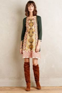 Knitted & Knotted Lanka Tunic Dress #holidayparty #anthrofave
