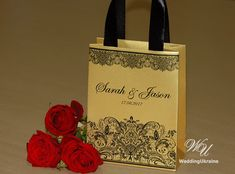 Gold Wedding Gift bags for small souvenirs by WeddingUkraine