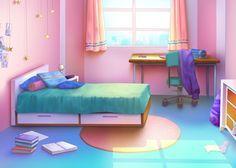 Episode Interactive Backgrounds, Episode Backgrounds, Anime Backgrounds Wallpapers, Anime Scenery Wallpaper, Cute Backgrounds, Pink Wallpaper Bedroom, Bedroom Designs Images, Casa Anime, Pink Bedroom For Girls