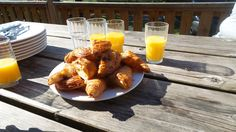 Breakfast on the deck in the sunshine :)