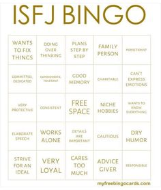 Yep, that's me! and proud to be an ISFJ!  MB