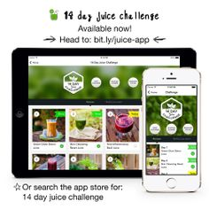 Our Young and Raw 14 Day Juice Challenge App is hitting the Apple store this March Healthy Drinks, Get Healthy, Healthy Life, Healthy Living, Juice Smoothie, Smoothie Recipes, Smoothies, Detox Recipes, Health And Wellness
