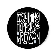 Alles gebeurt met een reden