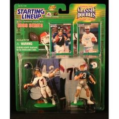 JOHN ELWAY / DENVER BRONCOS & DAN MARINO / MIAMI DOLPHINS 1998 NFL Classic Doubles * Winning Pairs * Starting Lineup Action Figures & Exclusive Collector Trading Cards (Toy)  http://ruskinmls.com/pinterestamz.php?p=B000COE0NW  B000COE0NW