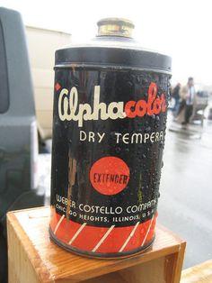 Alpha color dry tempera retro vintage packaging #retro #vintage #packaging