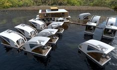 The floating hotel where guests can drift off in their own catamaran