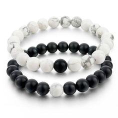 33bfb0d5eb1af Yin and Yang Distance Bracelet Set